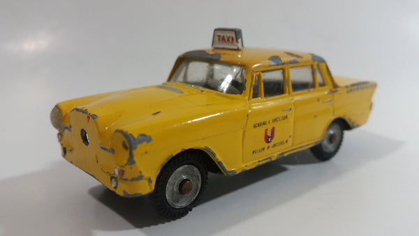 Rare Vintage metOsul #10 Mercedes-Benz 200 Taxi Cab Yellow 1/43 Scale Die Cast Toy Car Vehicle - Portugal