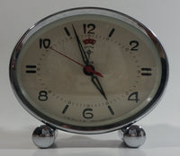 Vintage 1960s Polaris Dark Red Maroon Oval Shaped Windup Alarm Clock