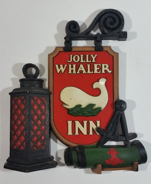 Vintage 1975 Syroco 7376 Jolly Whalers Inn 3D Decorative Wall Hanging