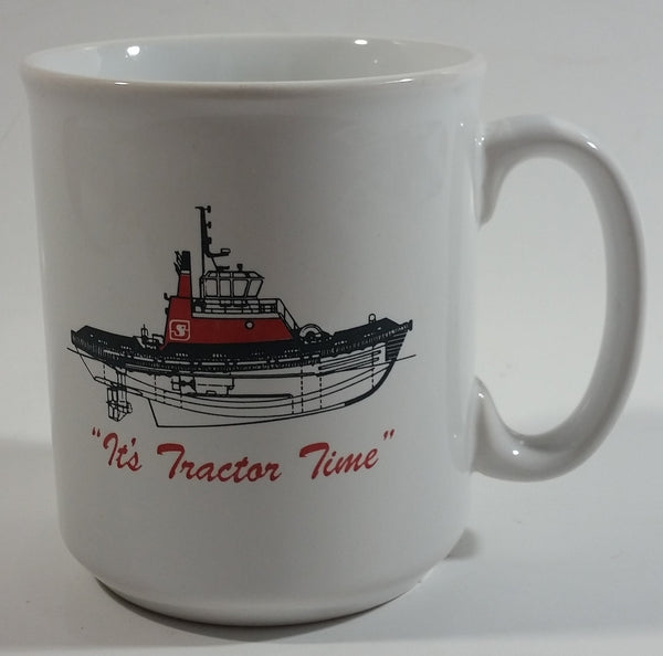 "Seaspan ""It's Tractor Time"" Ceramic Coffee Mug Cup Made in Tams England"