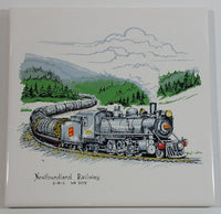 "1982 Newfoundland Railway ""2-B-Z"" No. 309 Train Locomotive Ceramic Tile"