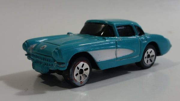 Maisto 1957 Chevrolet Corvette Teal With White Stripe Die Cast Toy Car Vehicle