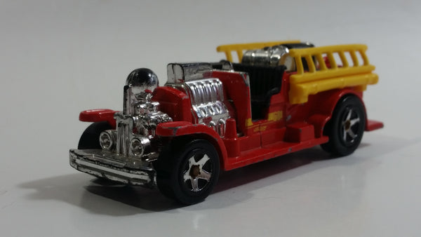 2008 Hot Wheels Old Number 5.5 Fire Truck Red Die Cast Toy Firefighting Rescue Emergency Vehicle