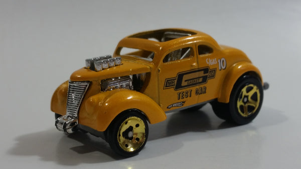 2010 Hot Wheels HW Performance Pass'n Gasser Yellow Gold Die Cast Toy Race Car Vehicle