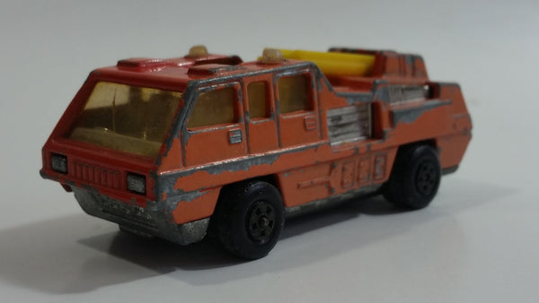 Vintage 1975 Lesney Matchbox Superfast No. 22 Blaze Buster Fire Ladder Truck Die Cast Toy Car Fire Fighting Rescue Emergency Vehicle Made in England