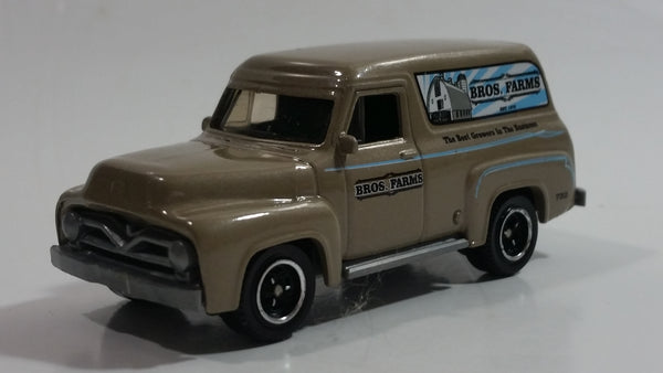 2010 Matchbox Farm Rigs Ford F-100 Panel Delivery (1955) Clay Brown Grey Die Cast Toy Car Vehicle