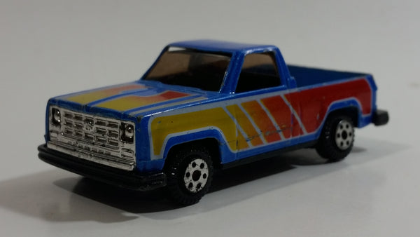 Yatming Chevrolet Pickup Truck No. 813 Blue Die Cast Toy Car Vehicle