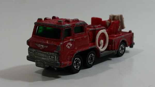 Vintage Tomica No. 29 Hino Fire Engine Ladder Truck 1/125 Scale Red Die Cast Toy Car Emergency Rescue Vehicle
