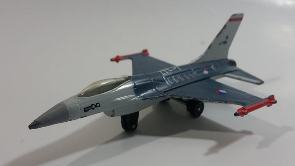 Vintage 1978 Matchbox Sky Busters F16A Dark Blue Grey J-199 Die Cast Toy Army Military Fighter Jet Airplane