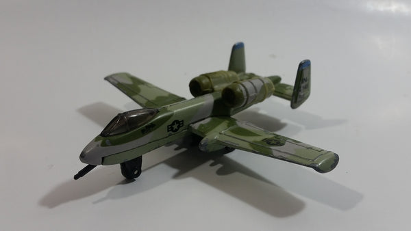1989 Matchbox Sky Busters A-10 Fairchild Thunderbolt Camouflage IN 149 Die Cast Toy Army Military Fighter Jet Airplane