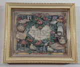 "1990 Susan Winget ""May true friends be around you"" 5 3/4"" x 6 3/4"" Framed 3D Shadow Box Set of 2"