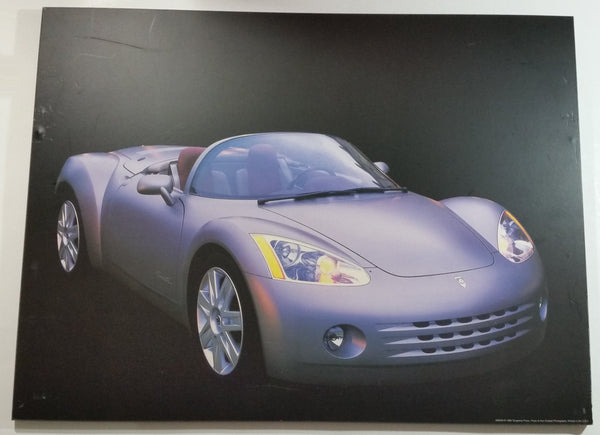 "1999 Tangerine Press Ron Kimball Photography Light Purple Plymouth Pronto Spyder 18"" x 24"" Hardboard Plaque"