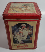 "2003 Coca Cola Coke Soda Pop ""The Drink of All of The Year"" Red 5 1/2"" Tall Tin Metal Container"