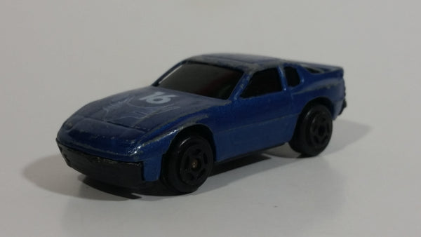 Unknown Brand Dark Blue #16 Die Cast Toy Sports Car Vehicle