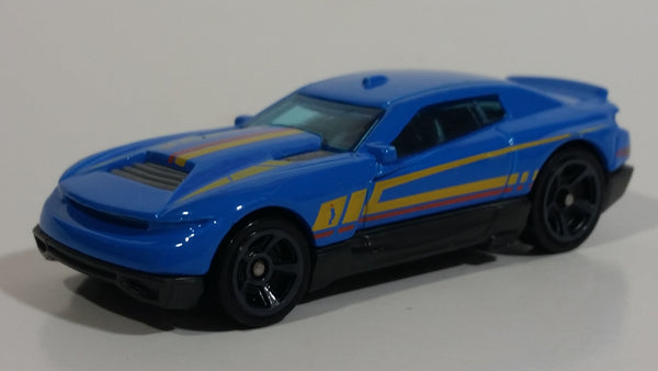 2017 Hot Wheels Muscle Mania D-Muscle Blue Die Cast Toy Car Vehicle