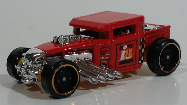 2018 Hot Wheels Legends of Speed Bone Shaker Red Die Cast Toy Car Hot Rod Vehicle