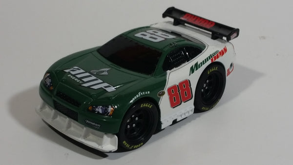 2008 Play Along NASCAR #88 Dale Earnhardt Jr. Mountain Dew Amp Energy National Guard White and Green Plastic Toy Car Vehicle