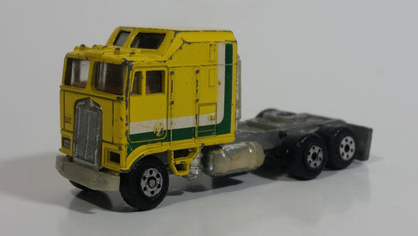 Vintage Road Champs Kenworth Aerodyne Cab-Over Engine Semi Tractor Truck Yellow Die Cast Toy Car Vehicle - Hong Kong
