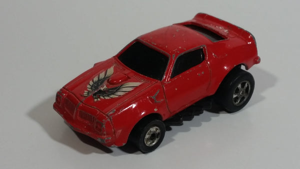 Vintage Unknown Brand Pontiac Firebird Trans Am Red Pullback Friction Motorized Die Cast Toy Car Vehicle - Hong Kong