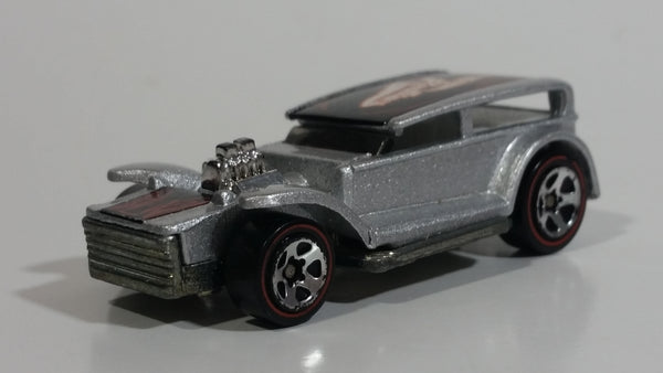 2002 Hot Wheels Red Lines The Demon Metalflake Silver Die Cast Toy Car Vehicle