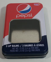 2014 Pepsi Cola Lotta Luv Beauty 3 Lip Balms Tin Metal Container - Empty