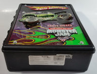 2014 Hot Wheels Monster Jam Grave Digger 15 Monster Trucks Carrying Case Black Plastic Container