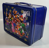 Nintendo Wii Gaming Console Super Mario Bros. Character Themed Dark Blue Tin Metal Lunch Box