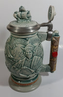 1992 Avon Limited Edition Ceramarte Christopher Columbus New World Stein Hand Painted Ceramic Beer Stein Made in Brazil
