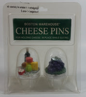 1996 Boston Warehouse Grapes and Platter Cheese Pins Model No. 18-521 New in Package