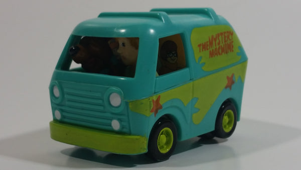 1996 Hanna Barbera Scooby Doo! The Mystery Machine Van Plastic Pullback Motorized Friction Toy Car Vehicle Burger King Kid's Meal