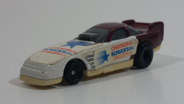 2000 Hot Wheels Del Worsham Funny Car Current Maroon and White Die Cast Toy Race Car Vehicle McDonald's Happy Meal