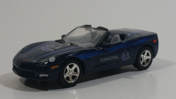 2006 Upper Deck Limited Edition 2005 Corvette Convertible Vancouver Canucks NHL Ice Hockey Team Dark Blue Die Cast Toy Car Vehicle