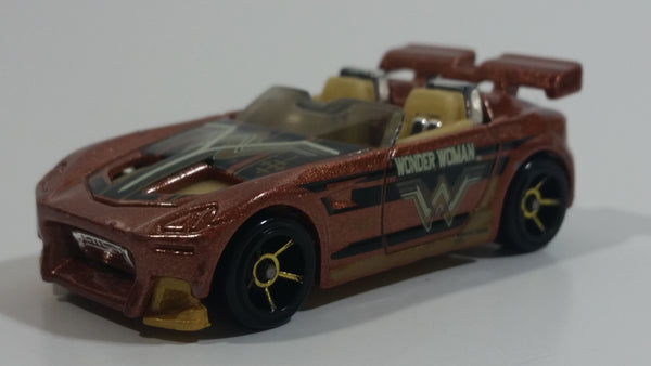2016 Hot Wheels Batman v Superman Tantrum Wonder Woman Metalflake Copper Die Cast Toy Car Vehicle