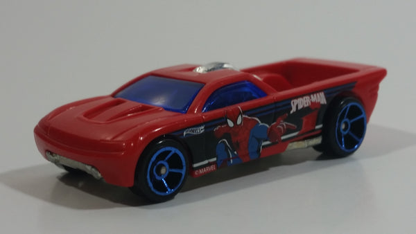 2015 Hot Wheels Ultimate Spider-Man vs The Sinister 6 Bedlam Truck Red Plastic Body Die Cast Toy Car Vehicle
