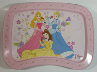 Disney Princess Rapunzel, Belle, Cinderella Light Pink Folding Metal Lunch TV Tray TV Collectible