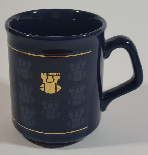 Winnipeg Blue Bombers CFL Football Team Dark Blue Gold Decor Ceramic Coffee Mug Cup - Made in England