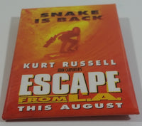 "1996 Paramount Pictures John Carpenter's Escape From L.A. ""Snake is Back"" Kurt Russell This August Promotional Movie Film Pin"