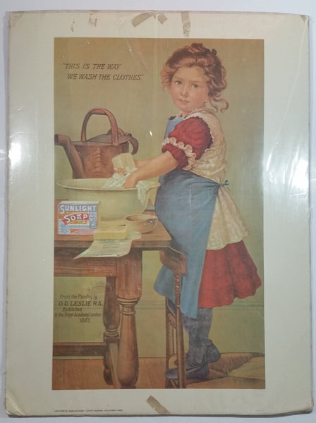 "Vintage 1974 Portal Productions Sunlight Soap ""This Is The Way We Wash The Clothes"" 18"" x 24"" Print Litho In U.S.A."
