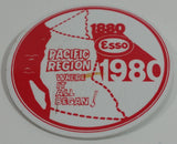 "Vintage 1880-1980 Esso Pacific Region ""Where It All Began!"" 100th Anniversary Red and White Promotional Pin"