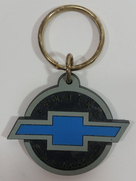 Genuine Chevrolet Black and Blue Rubber Key Chain