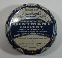 Vintage Mid-Century The W.T. Rawleigh Company Rawleigh's Medicated Ointment for Minor Injuries of the Skin Soothing and Healing 5 OZ Tin Metal Container