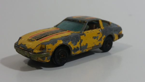 Vintage Yatming No. 1062 Datsun 280 Z-T Yellow Die Cast Toy Car Vehicle with Opening Doors - Hong Kong