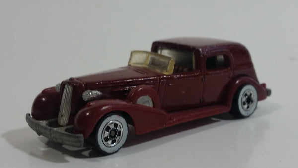1983 Hot Wheels '35 Classic Caddy Cadillac Maroon Die Cast Toy Car Vehicle