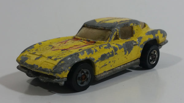 1982 Hot Wheels Hi-Rakers Split Window '63 Yellow Die Cast Toy Car Vehicle - Malaysia