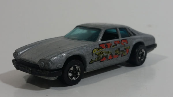 Vintage 1978 Hot Wheels Flying Colors Jaguar XJS Grey Die Cast Toy Car Vehicle - Hong Kong