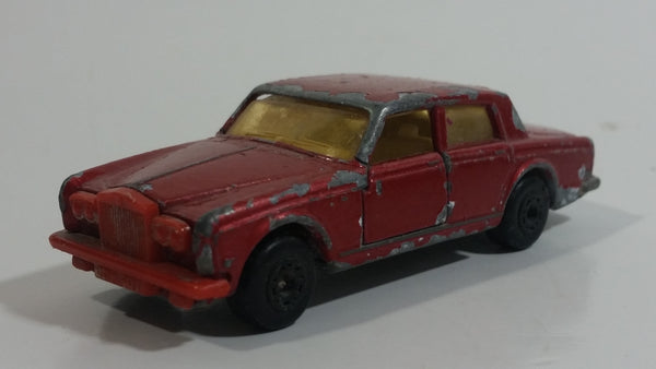 Vintage 1979 Lesney Matchbox Superfast No. 39 Rolls Royce Silver Shadow II Dark Red Die Cast Toy Car Vehicle with Opening Doors