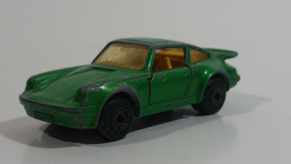 Vintage 1978 Lesney Matchbox Superfast No. 3 Porsche Turbo Green Die Cast Toy Car Vehicle with Opening Doors