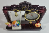 "Very Unique Affection To Thanker After ""Love Happy To You"" ""The Love As Deep As The Sea"" Musical Light Up Swinging Alarm Clock In Box"