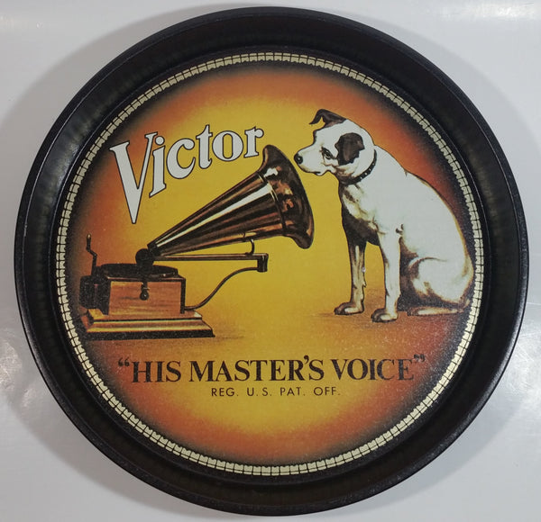 "Bristol Ware RCA Victor ""His Master's Voice"" 12"" Diameter Round Metal Drink Beverage Serving Tray"
