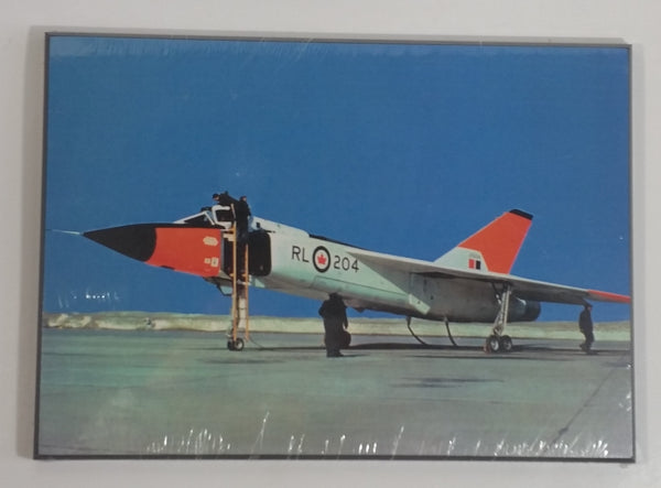 "Avro Canada Arrow RL204 c. 1958 Royal Canadian Air Force Fighter Jet Airplane 7 3/8"" x 10 3/8"" Wall Plaque"